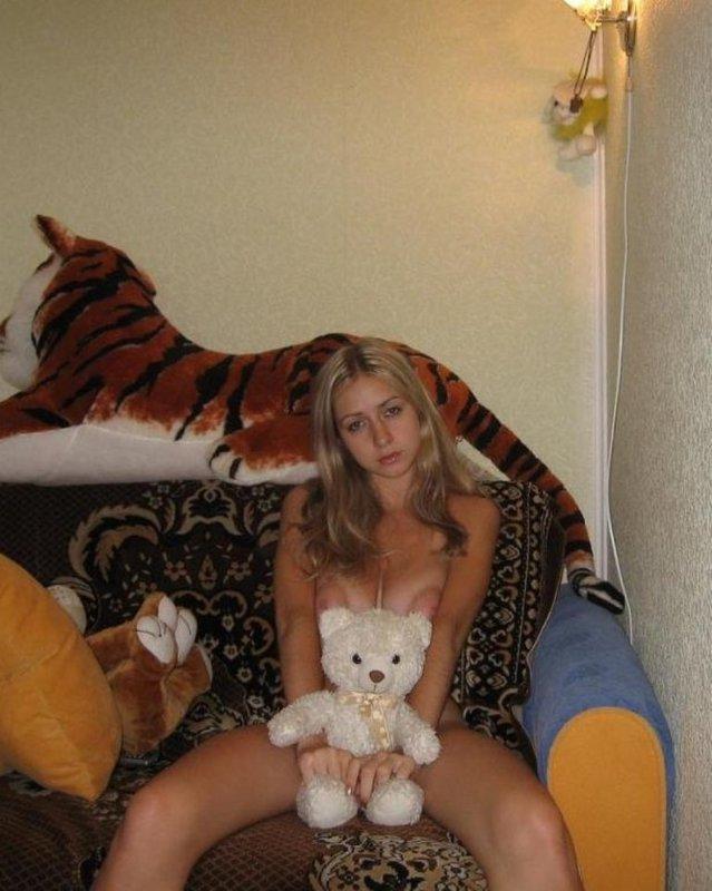 Фото блонда большими эротика