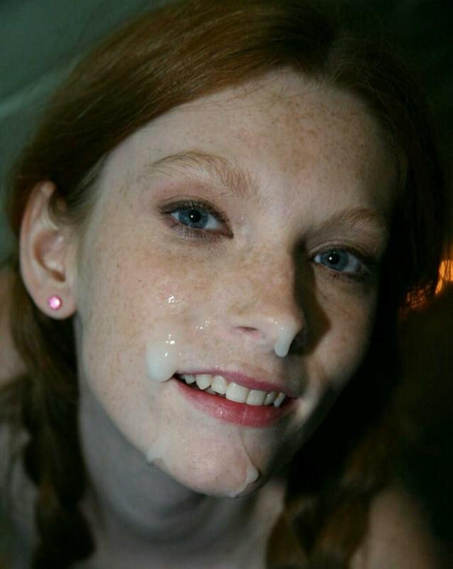 Фото спермой лица эротика
